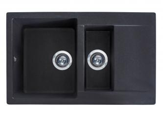 Кухонна мийка LAPAS чорназі штучного каменю