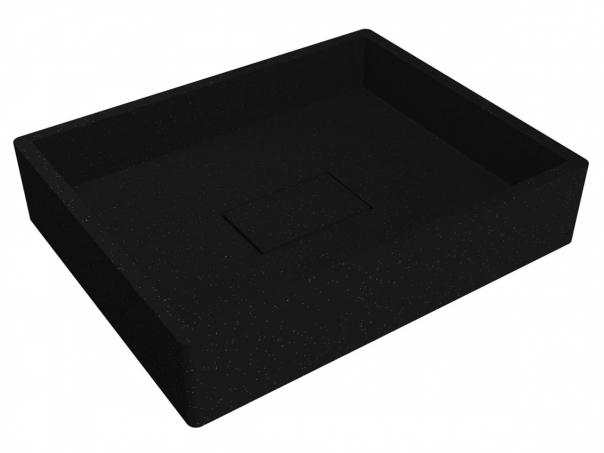 Умивальник CAPRI BLACK з кварцевого піску
