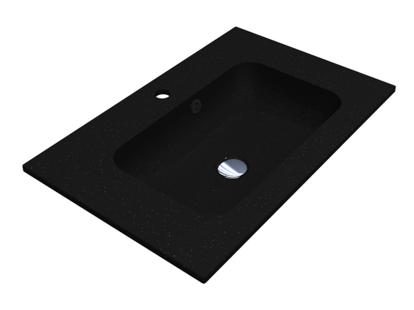 Умивальник DELLA 700 BLACK з кварцевого піску - 1
