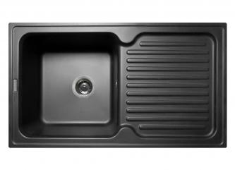 Кухонна мийка ORLEAN чорназі штучного каменю
