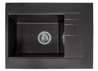 Кухонна мийка BODRUM 650 чорназі штучного каменю