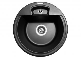 Кухонна мийка VALENCIA чорназі штучного каменю