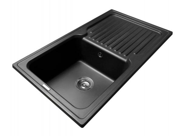 Кухонная мойка ORLEAN черная - 1