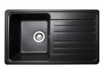 Кухонна мийка VERSAL чорназі штучного каменю