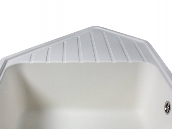 Кухонная мойка TIRION белая - 2
