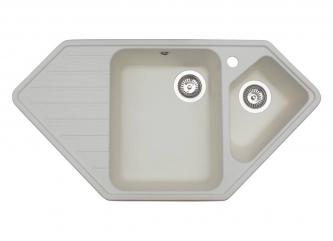 Кухонна мийка TIRION білазі штучного каменю