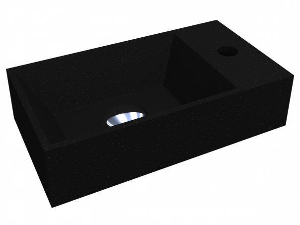 Умивальник COPPER 400 BLACK з кварцового піску