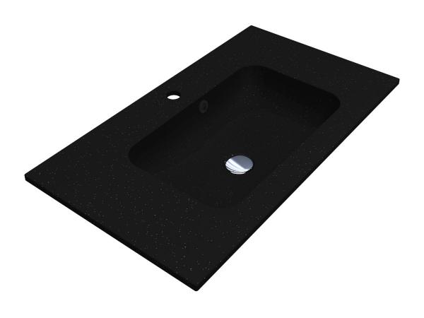 Умивальник DELLA 800 BLACK з кварцевого піску - 1