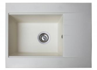 Кухонна мийка BODRUM 650 білазі штучного каменю