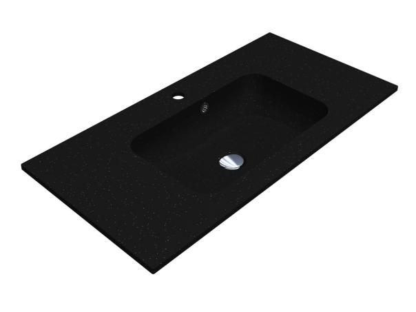 Умивальник DELLA 900 BLACK з кварцевого піску