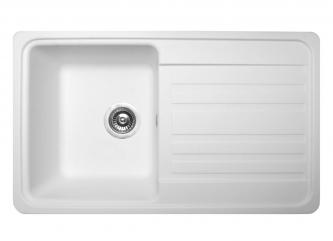 Кухонна мийка VERSAL білазі штучного каменю