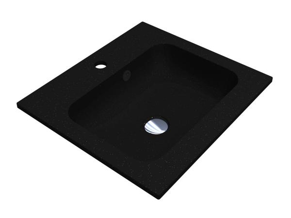 Умивальник DELLA 500 BLACK з кварцевого піску - 1